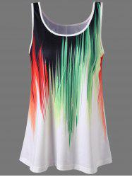 Graphic Sleeveless Ringer T-Shirt - COLORMIX