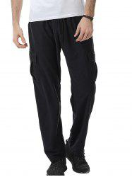 Pockets Design Drawstring Cargo Sweat Pants