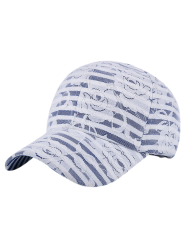 Striped Flowers Lacework Baseball Hat