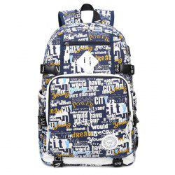 Canvas Graphic Print Backpack