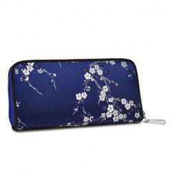 Jacquard Satin Zip Around Wallet