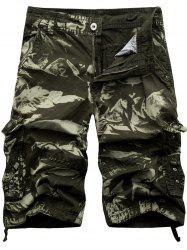 Zipper Fly Cargo Shorts with Multi Pockets