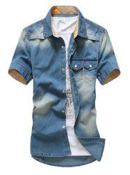 Washable Double Pocket Denim Shirt