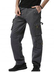 Zipper Fly Multi Pockets Army Cargo Pants