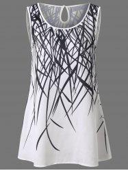 Cut Out Print Tank Top