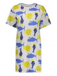 Printed Plus Size T Shirt Dress