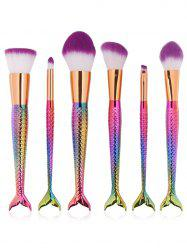 6 Pcs Multifunction Mermaid Shape Makeup Brush Set
