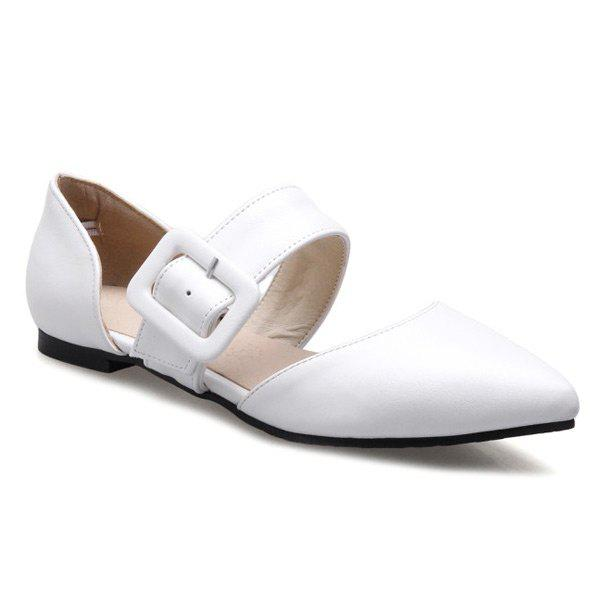 Best PU Leather Belt Buckle Flat Shoes