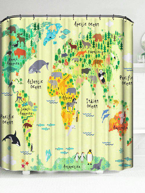 2019 Fun Map Waterproof Fabric Shower Curtain Rosegal Com