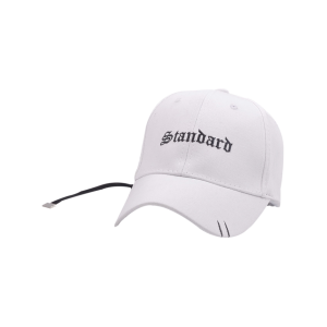 Sunscreen Letters Long Tail Holes Baseball Hat - White