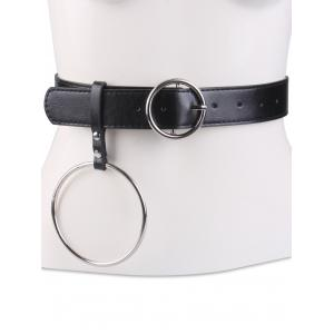 Faux Leather Waist Belt with Metal Rings