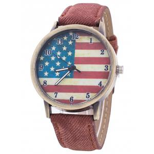 Stars And Stripes Flag Number  Jeans Watch