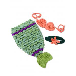 Photographie Bébé Prop tricot Crochet Costume Mermaid - Vert