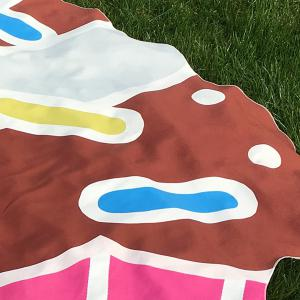 Cartoon Cupcake Design Beach Throw -
