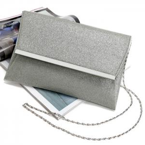 Glitter Clutch Bag with Chain -