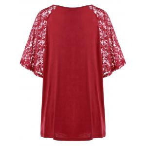 Plus Size Lace Sleeve Flowy Tunic Top