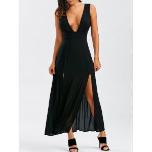 Low Cut Backless Long Slit Party Dress