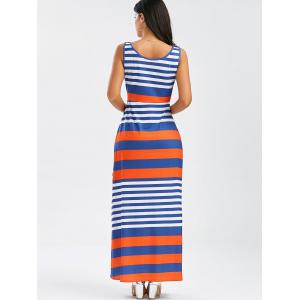 Stripe Maxi Tank Dress - Multicolore XL