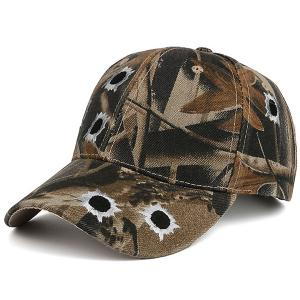 Camouflage Shothole Embroidered Baseball Hat