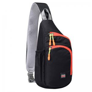 Outdoor Waterproof Multipocket Chest Bag - Black