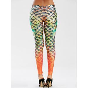 Scale Allover Print Mermaid Leggings -