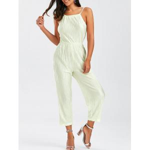 Open Back Pleated Cami Jumpsuit