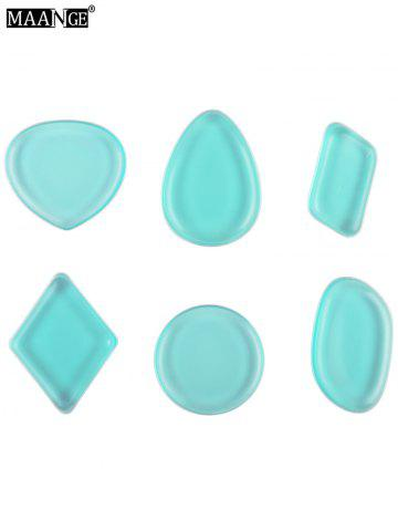 New MAANGE 6PCS Silicone Makeup Sponges - BLUE  Mobile