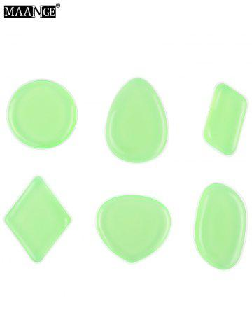 MAANGE 6PCS Silicone Makeup Sponges - Light Green