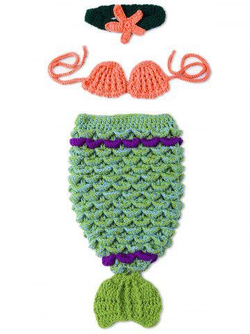 Photographie Bébé Prop tricot Crochet Costume Mermaid Vert