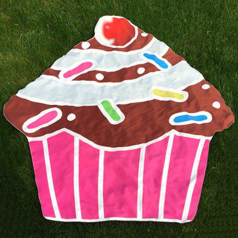 Trendy Cartoon Cupcake Design Beach Throw