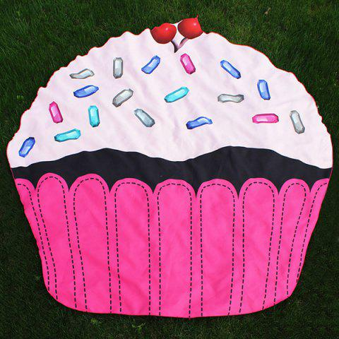 Unique Cartoon Cupcake Design Beach Throw