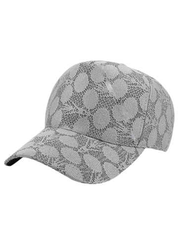Buy Lace Dotted Summer Baseball Cap - Gray
