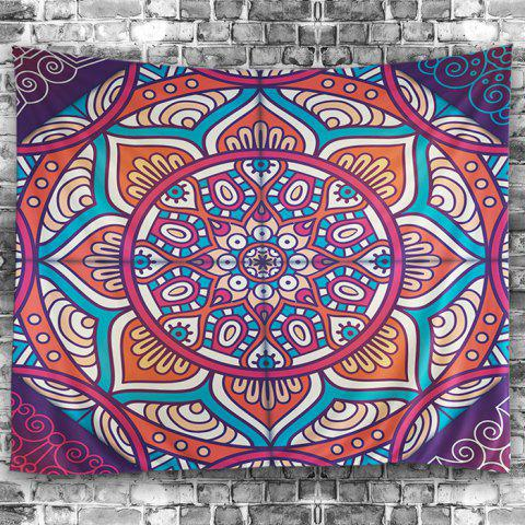 Trendy Wall Hangings Art Decor Hippie Mandala Print Tapestry - W79 INCH * L59 INCH COLORMIX Mobile