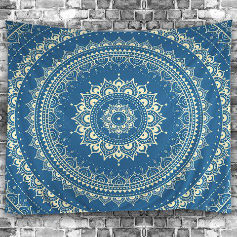 Best Wall Hanging Art Decoration Mandala Print Tapestry - W59 INCH * L51 INCH BLUE Mobile