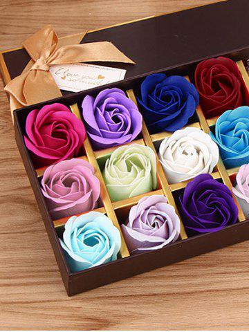 Affordable 12 Pcs Gradient Rose Soap Artificial Flowers and Bear - COLORMIX  Mobile