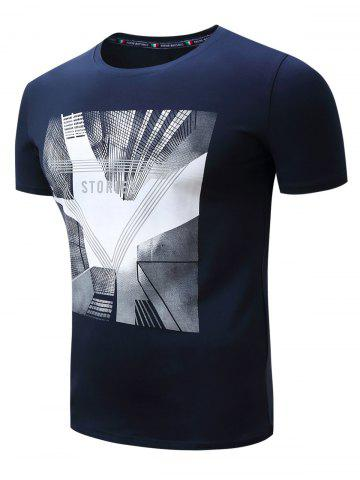 Outfit 3D Highrise Graphic Geometric Print T-Shirt - XL ROYAL Mobile