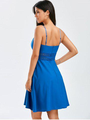 Store A Line Cocktail Slip Dress - S BLUE Mobile