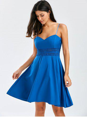 Outfit A Line Cocktail Slip Dress - S BLUE Mobile