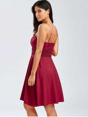 Buy A Line Cocktail Slip Dress - S WINE RED Mobile
