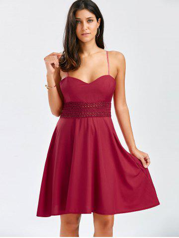 Sale A Line Cocktail Slip Dress - S WINE RED Mobile
