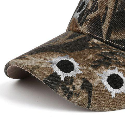 Fancy Camouflage Shothole Embroidered Baseball Hat - COLORMIX  Mobile