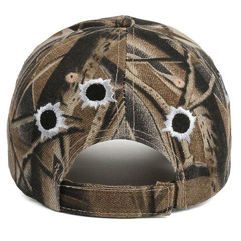 Affordable Camouflage Shothole Embroidered Baseball Hat - COLORMIX  Mobile
