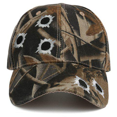 Chic Camouflage Shothole Embroidered Baseball Hat - COLORMIX  Mobile