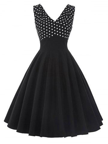 New Vintage Polka Dot Insert Pin Up Flare Dress