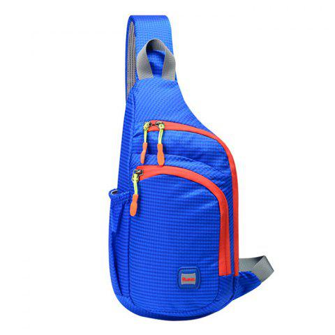 Store Outdoor Waterproof Multipocket Chest Bag - BLUE  Mobile