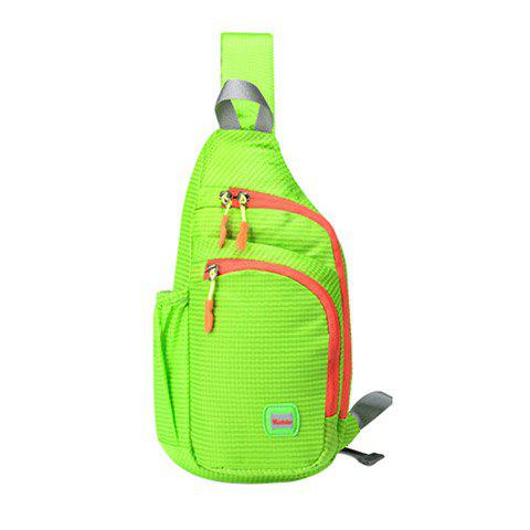 Chic Outdoor Waterproof Multipocket Chest Bag - APPLE GREEN  Mobile