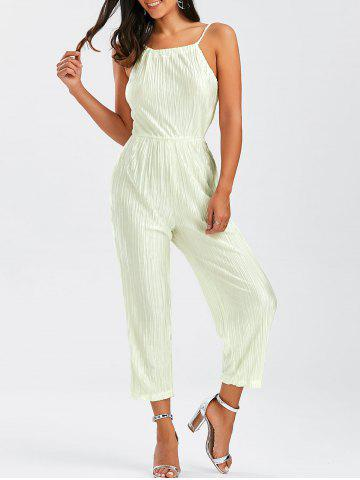 Buy Open Back Pleated Cami Jumpsuit OFF-WHITE M