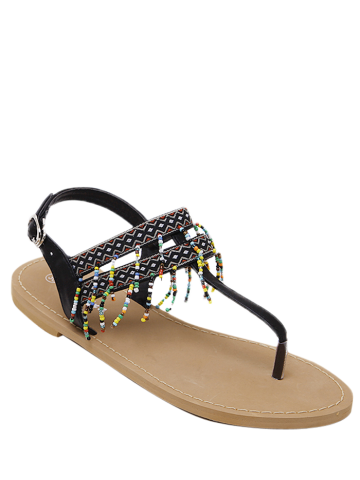 Hot Beading Geometric Pattern Sandals