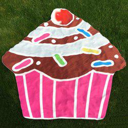 Cartoon Cupcake Design Beach Throw