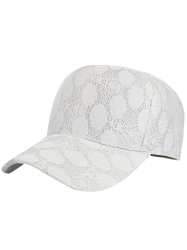 Lace Dotted Summer Baseball Cap - WHITE